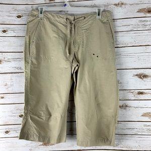 Columbia Womens medium Tan Nylon Capri Pants Short